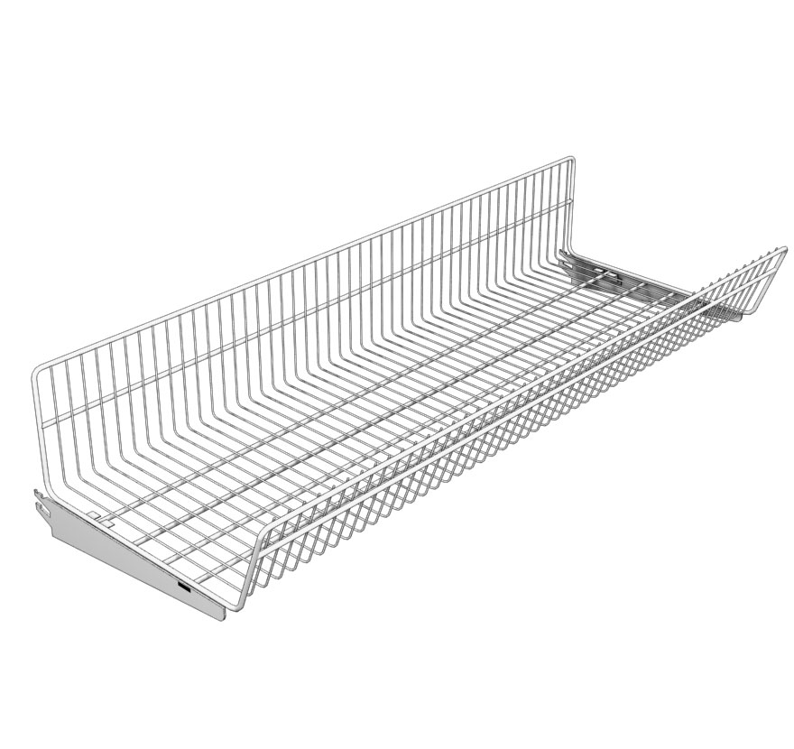Retail Shelving Continuous-Wire-Basket Lozier