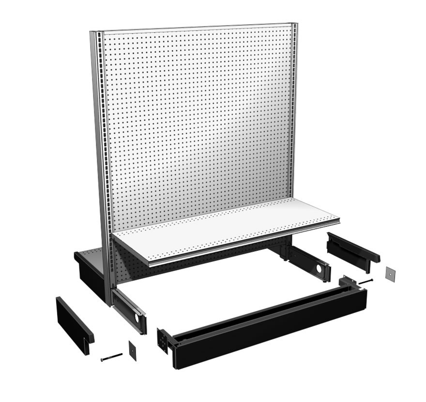 Mobile Gondola Kit Lozier Retail Shelving
