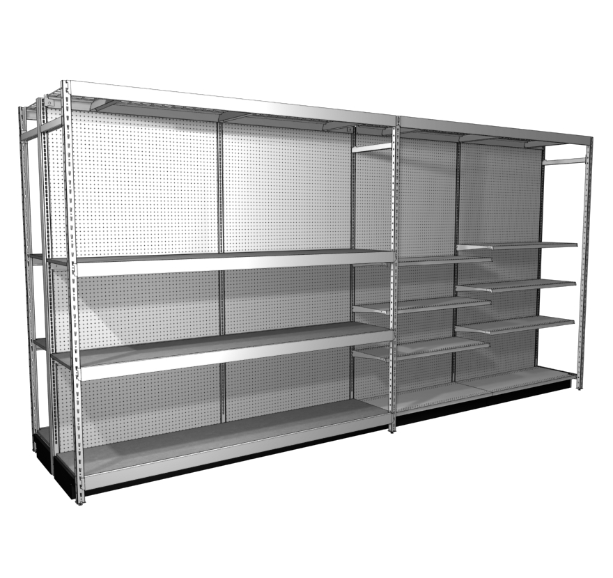Multi Function Lozier Retail Shelving