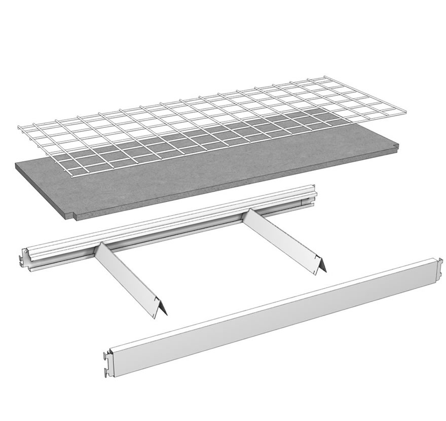 Multi-Function Shelf Assembly Lozier Retail Shelving
