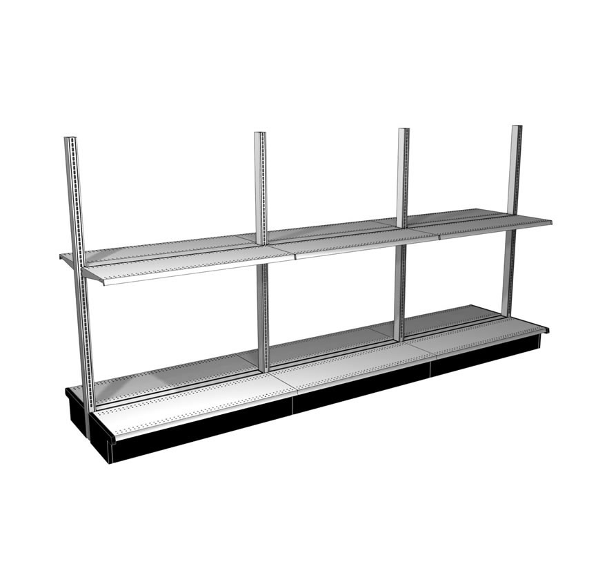 Open Back System Lozier Retail Shelving