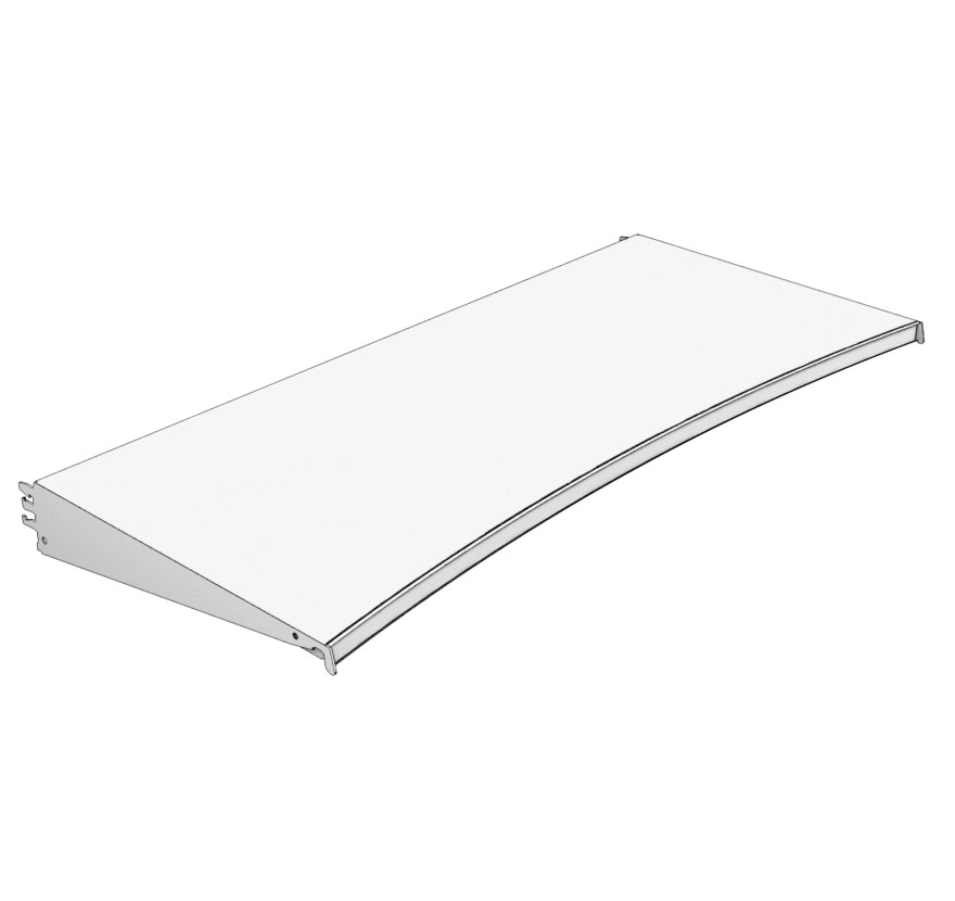 Radius Shelf Inward Lozier Retail Shelving