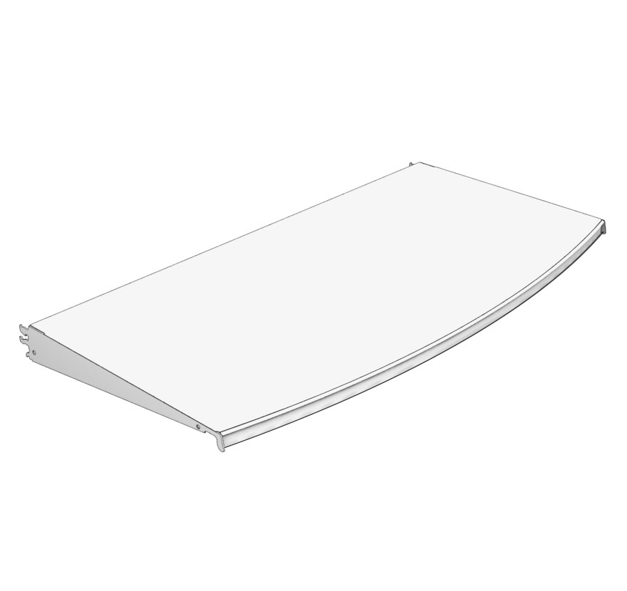 Radius Shelf Outward Lozier Retail Shelving