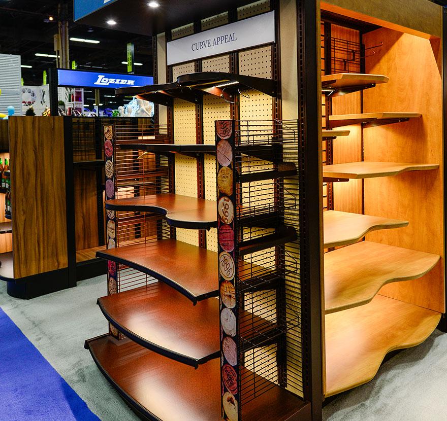 Radius Shelves Versa End Cap Lozier Retail Shelving
