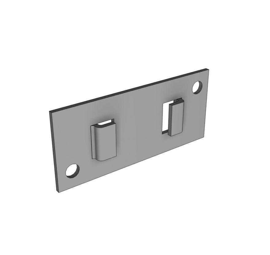 Wall Mounting Hardware : Wall mount bracket lozier