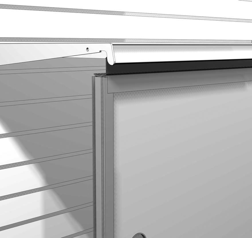Retail Shelvling Accessories Door Kit Gap Filler Hardboard Glass Gallery1 Lozier