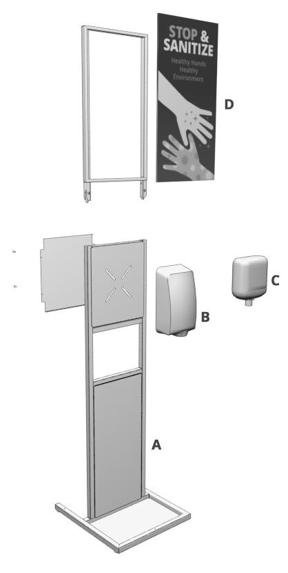Freestanding Sanitizer Stand Detail