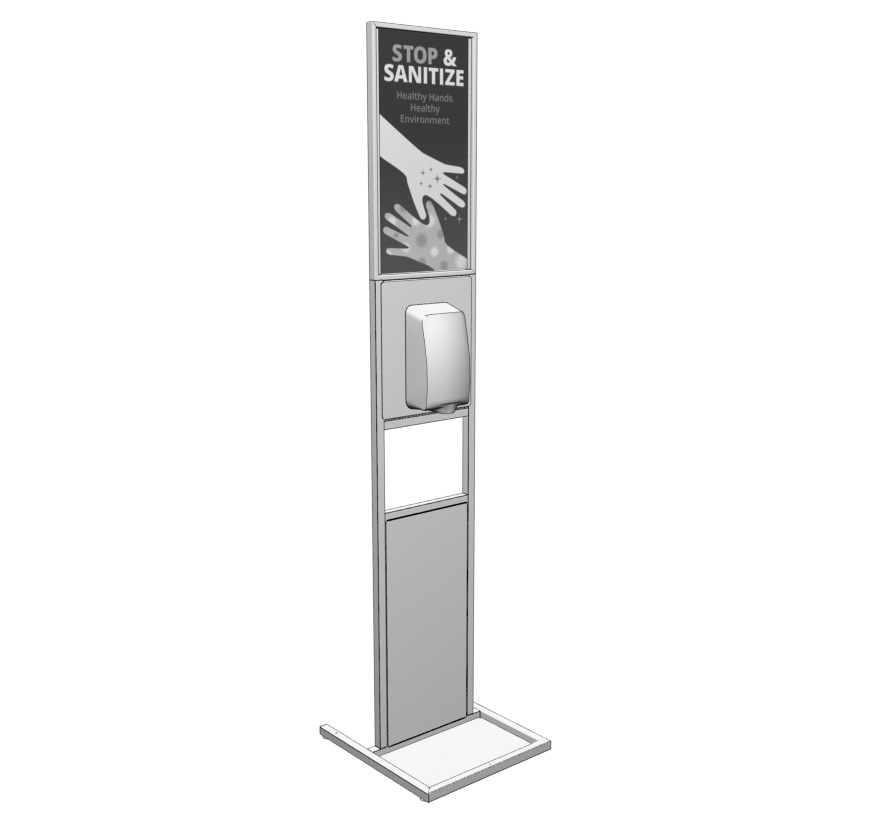Freestanding Sanitizing Stand